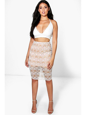 Boohoo Boutique Honor Embellished Midi Skirt