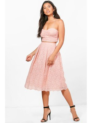 BOOHOO Boutique Jemma Embroidered Skirt Co-Ord