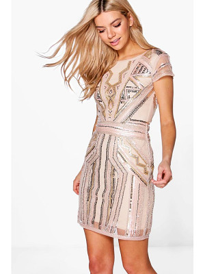 BOOHOO Boutique Liv Sequin Cap Sleeve Shift Dress