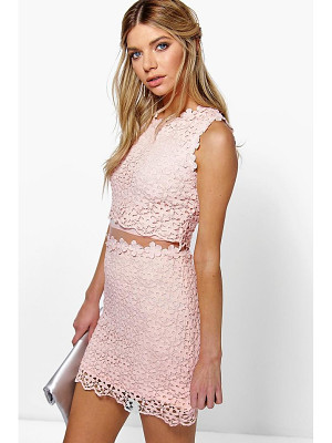 BOOHOO Boutique Lucy Lace Double Layer Bodycon Dress