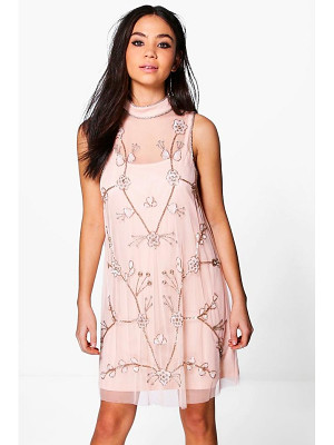 BOOHOO Boutique Nora Embellished Swing Dress