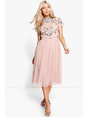Boohoo Boutique Embellished Midi Dress