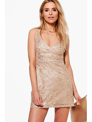 Boohoo Boutique Lace Sequin Bodycon Dress