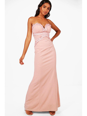 BOOHOO Boutique Sally Applique Trim  Maxi Dress