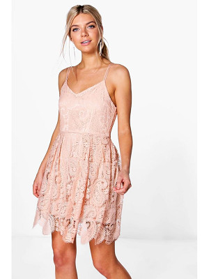 BOOHOO Boutique Tasha Scallop Lace Skater Dress