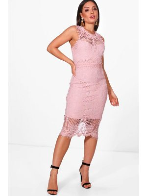 Boohoo Boutique Lace Crochet Midi Dress