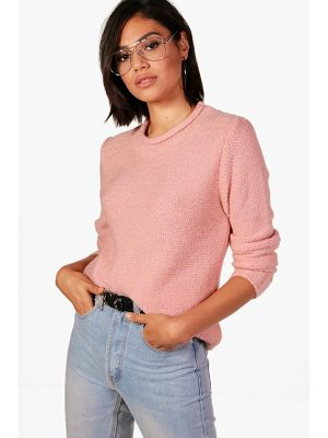 BOOHOO Brooke Loose Stitch Curve Neck Jumper