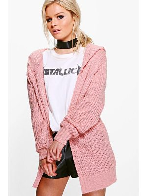 Boohoo Camille Soft Knit Hooded Cardigan