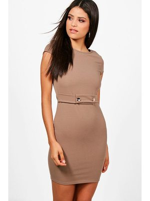 BOOHOO Cara Cap Sleeve Dress