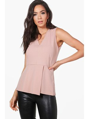 BOOHOO Charlotte Fitted Peplum Top