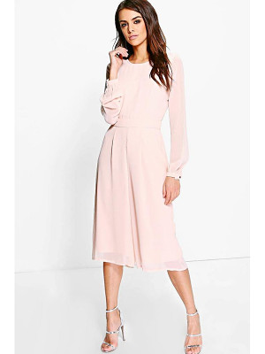 BOOHOO Cora Long Sleeve Culotte Jumpsuit