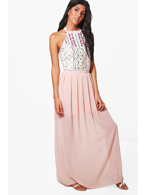 BOOHOO Danni Embellished Maxi Dress