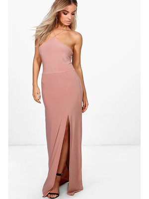BOOHOO Elise Strappy Slinky Maxi Dress