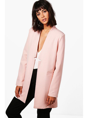 Boohoo Eliza Premium Notch Neck Tailored Lined Blazer
