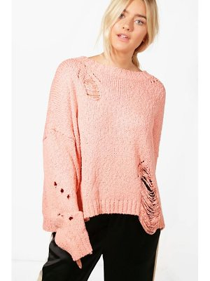 BOOHOO Elizabeth Distressed Jumper