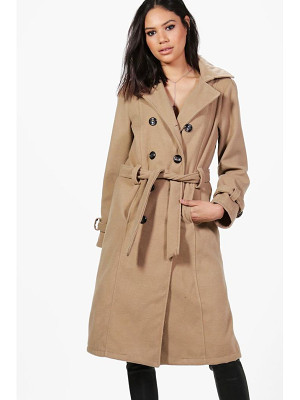 Boohoo Elizabeth Double Breasted Belted Wool Coat