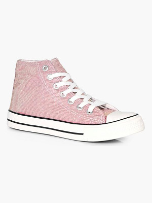 Boohoo Ella Metallic Canvas High Top