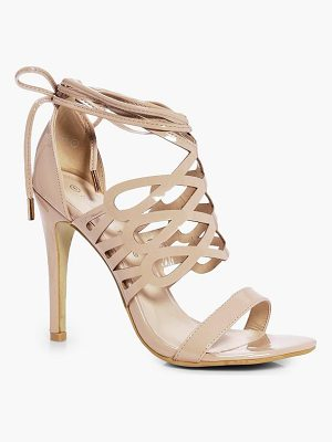 BOOHOO Emily Cage Wrap Ankle Heels