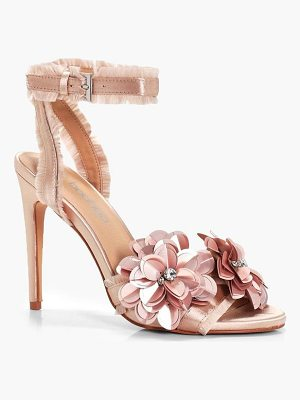 Boohoo Embellished Satin 2 Part Heels