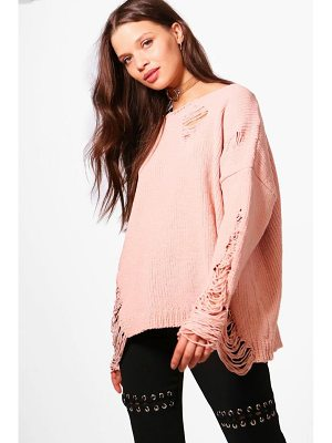 BOOHOO Emma Distressed Chenille Jumper