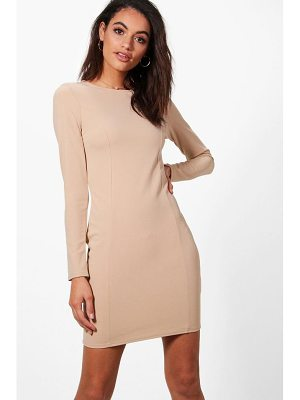 BOOHOO Emma Seam Detail Dress