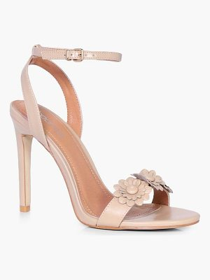 Boohoo Erin Flower Applique 2 Part Heel