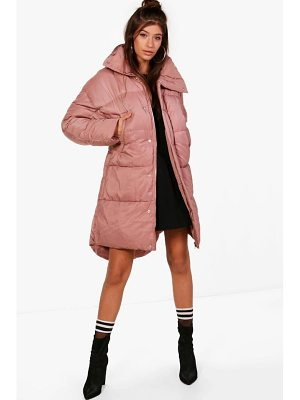 Boohoo Faye Boutique Funnel Neck Padded Jacket