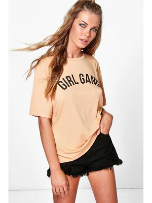 Boohoo Flora Girl Gang Oversized T-Shirt
