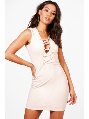 BOOHOO Fran Corset Detail Bodycon Dress