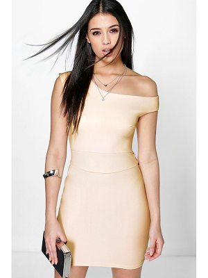 BOOHOO Frey Off The Shoulder Tie Waist Bodycon Dress