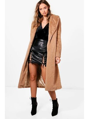 BOOHOO Freya Boutique Longline Faux Fur Coat
