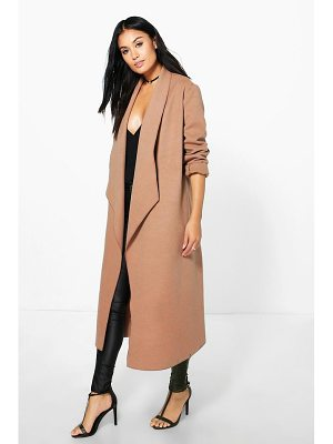 BOOHOO Freya Waterfall Wool Look Duster