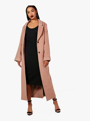 Boohoo Georgia Oversized Maxi Wool Look Coat