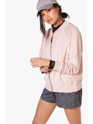 BOOHOO Georgina Oversized Teddy Bomber Jacket