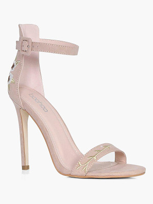 Boohoo Grace Embroidered 2 Part Sandal