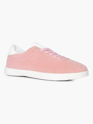 BOOHOO Grace Lace Up Retro Trainer