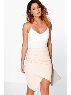 BOOHOO Gracie Rouched Side Asymetric Skirt