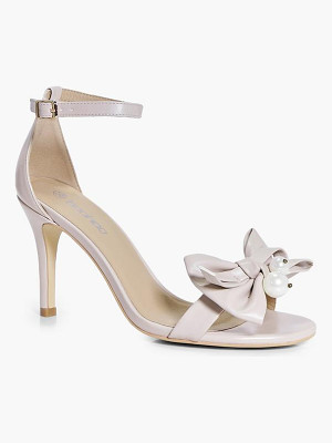 BOOHOO Hannah Pearl And Bow Two Part Heels