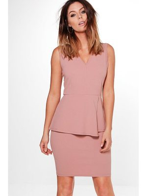 BOOHOO Harriet Peplum Tailored Dress