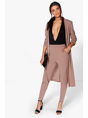 BOOHOO Harriet Pocket Scuba Crepe Tapered Trouser