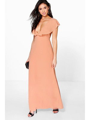 BOOHOO Hayley Chiffon Frill Angel Sleeve Maxi Dress