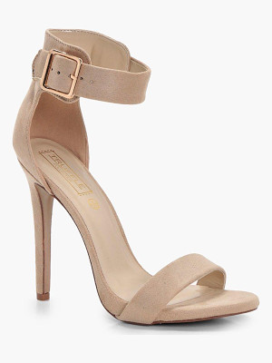 BOOHOO Heather 2 Part Heel With Buckle Detail
