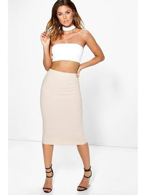 Boohoo Heidi Choker Bandeau Crop And Midi Skirt Co-ord