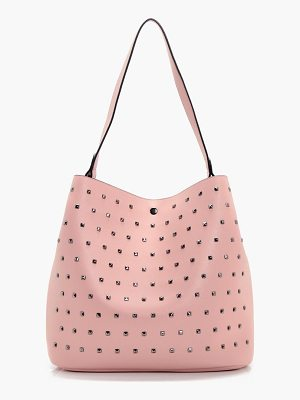 BOOHOO Hollie Square Stud Detail Day Bag