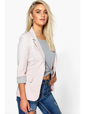 Boohoo Hollie Turn Up Cuff Woven Blazer