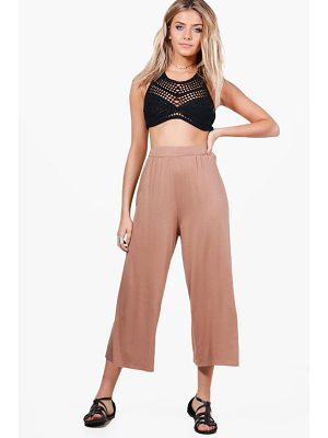 BOOHOO India Basic Jersey Wide Leg Culottes