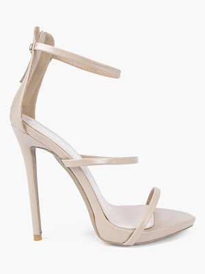 Boohoo Iris Single Platform Strappy Heels