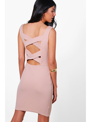 BOOHOO Isla Strapy Cross Back Bodycon Dress
