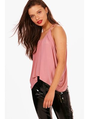 BOOHOO Isobel Ruched Drop Arm Cami