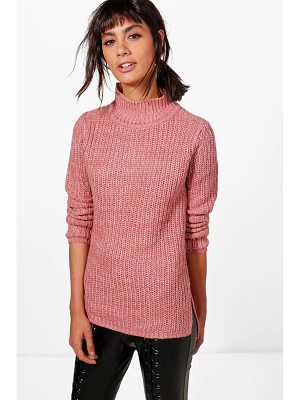 BOOHOO Jasmine Marl Knit Turtleneck Jumper